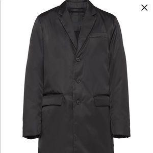 Prada Single Breasted Mid-Length Coat